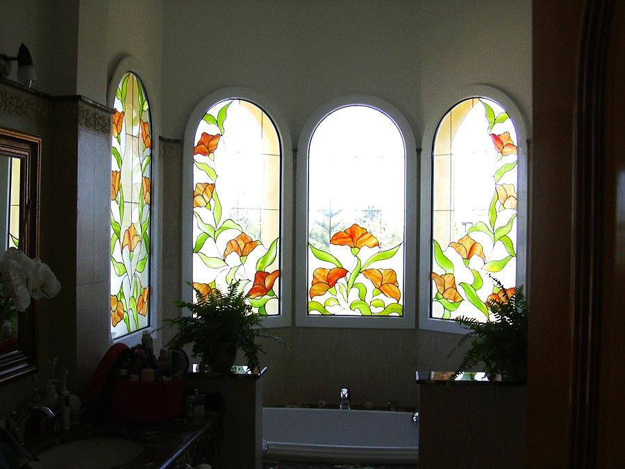 Flowers 4 Glass Art by Justyna Pastuszka