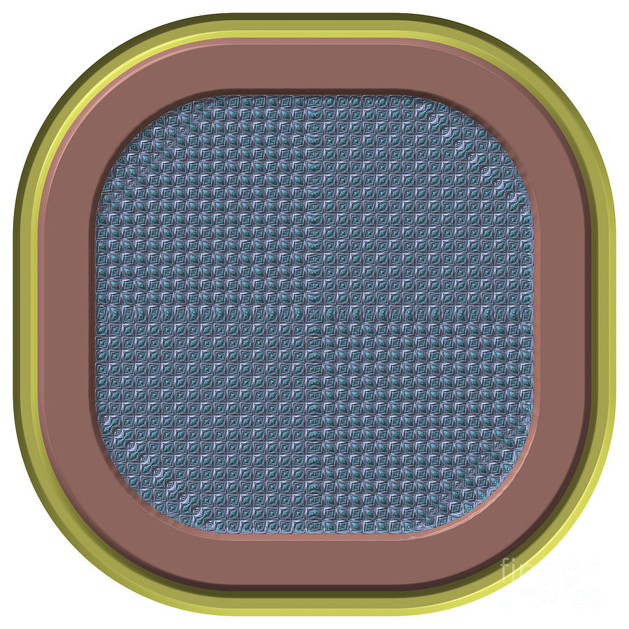 Frame Button Generated Texture Digital Art
