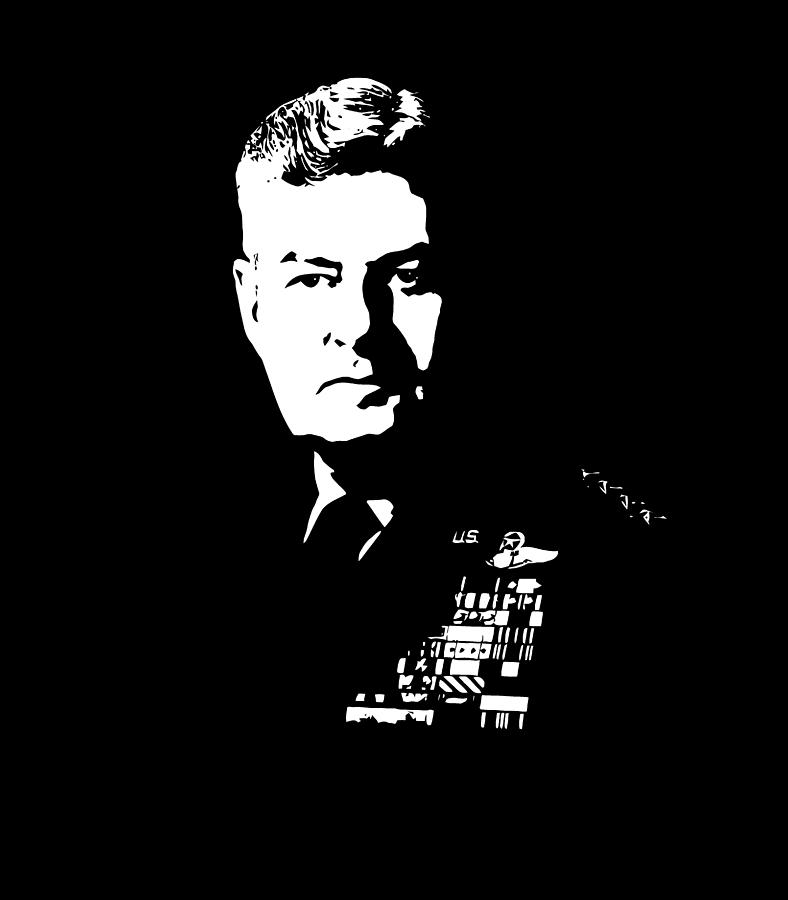 Curtis Lemay Digital Art - General Curtis Lemay by War Is Hell Store