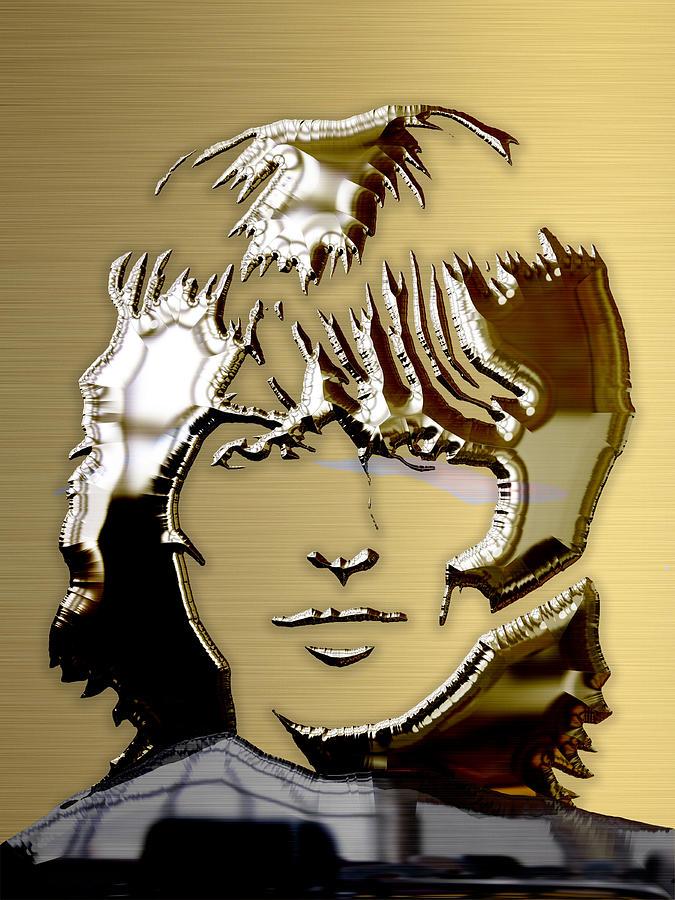 George Harrison Mixed Media - George Harrison Art by Marvin Blaine