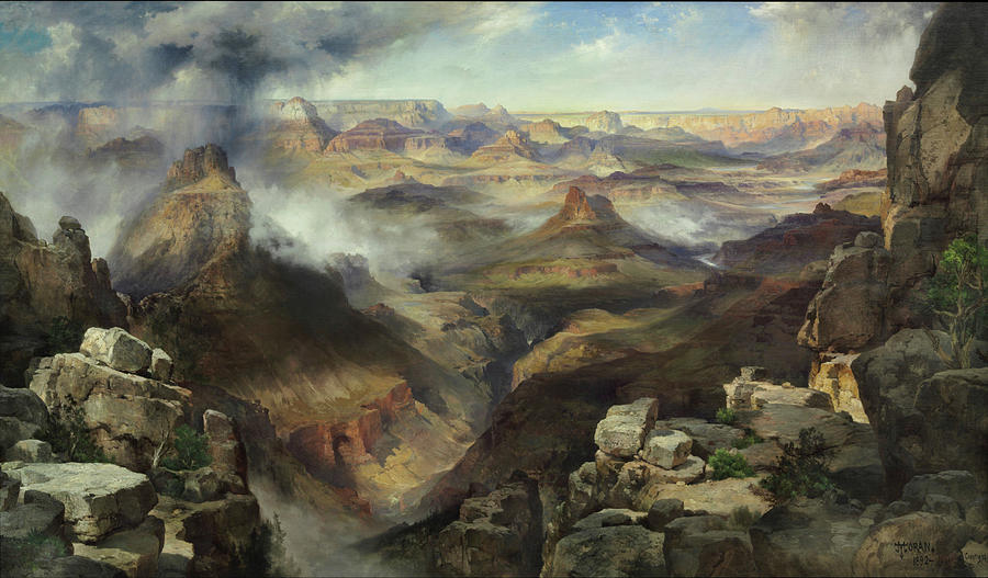 Moran Painting - Grand Canyon Of The Colorado River by Thomas Moran