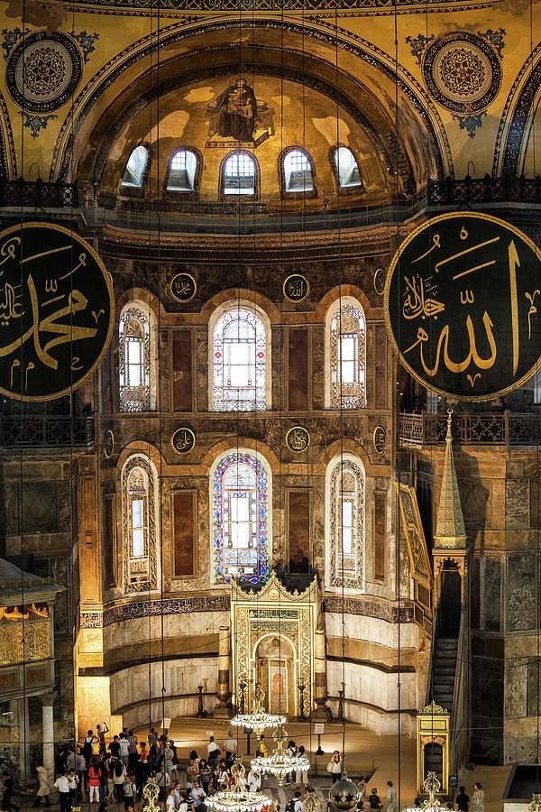 Arch Photograph - Hagia Sophia Interior by Artur Bogacki