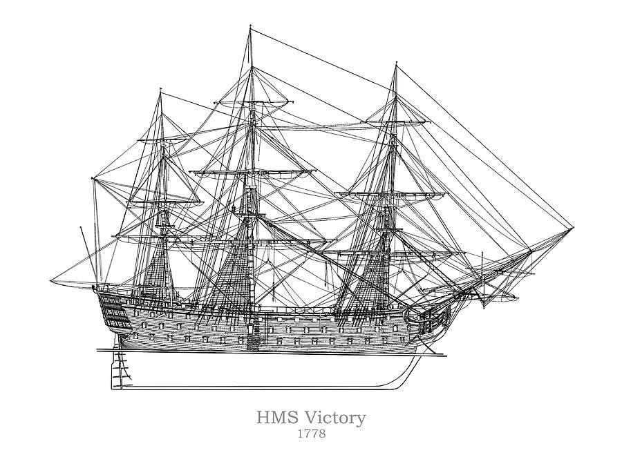 hms victory ship plans drawing by jose elias
