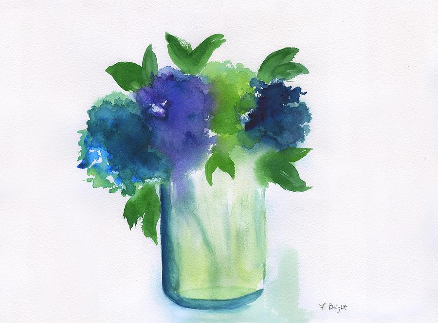 Hydrangeas Painting - 4 Hydrangeas by Frank Bright
