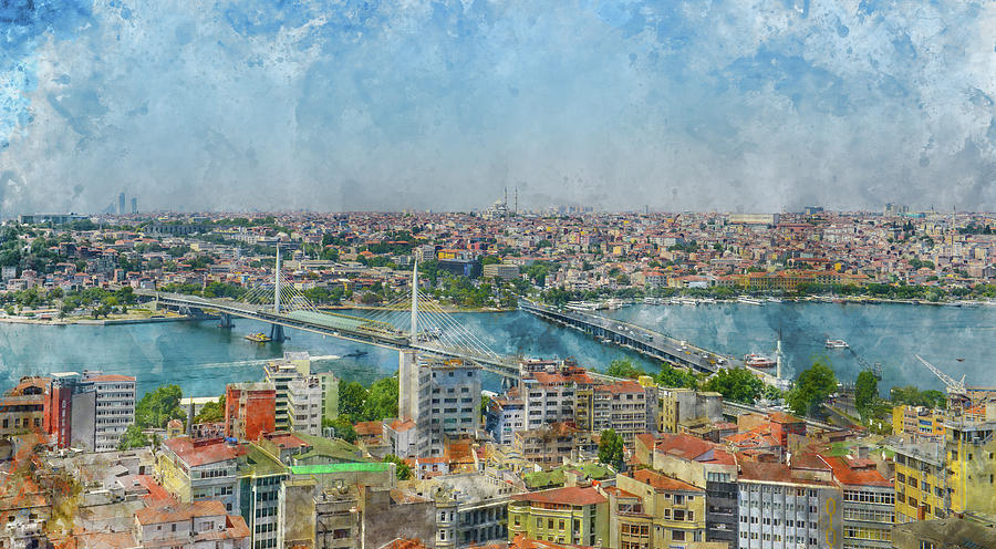 Istanbul Turkey Cityscape by Brandon Bourdages