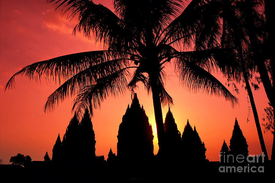 Ancient Photograph - Java, Prambanan by Gloria & Richard Maschmeyer - Printscapes