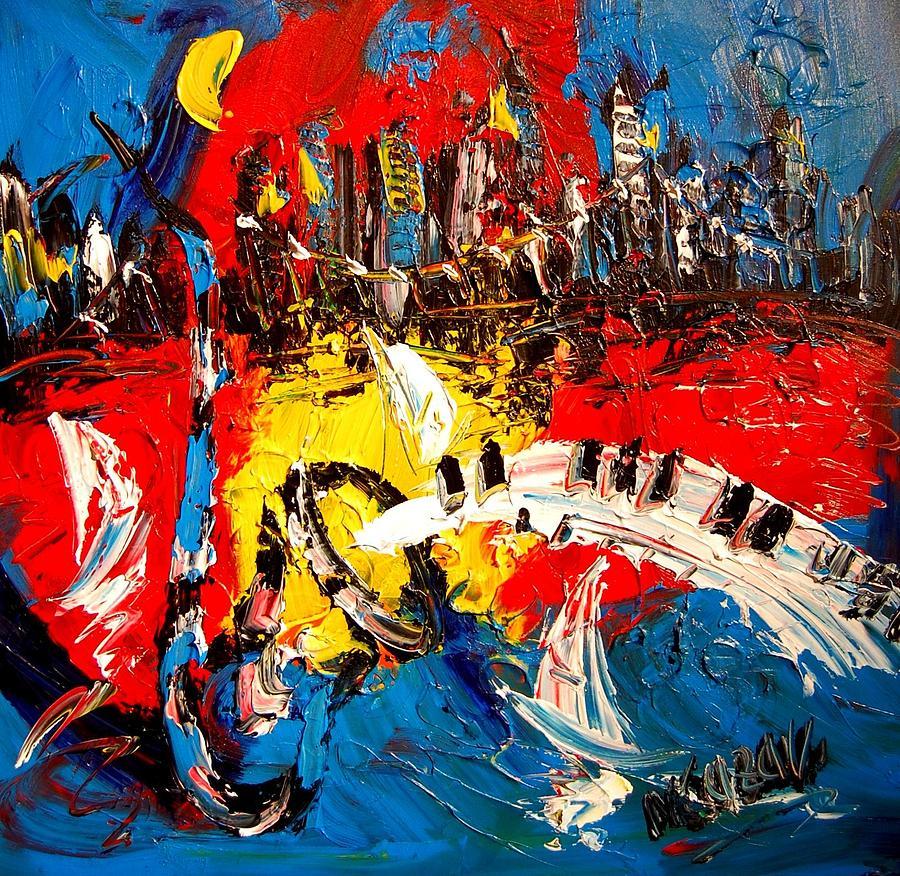 Red Poppies Painting - Jazz by Mark Kazav