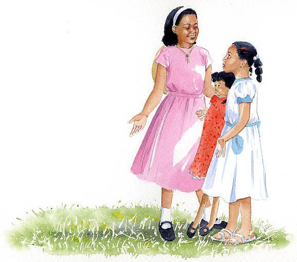 Girls Painting - Jill The Pill by Denny Bond