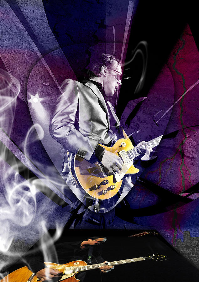Joe Bonamassa Mixed Media - Joe Bonamassa Blues Guitarist Art by Marvin Blaine