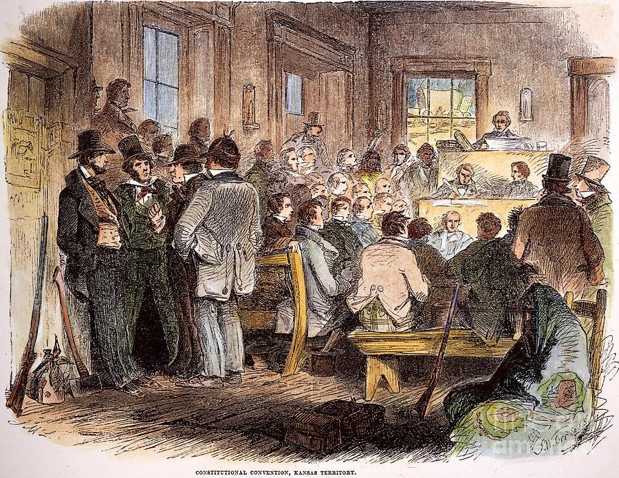 1855 Photograph - Kansas-nebraska Act, 1855 by Granger