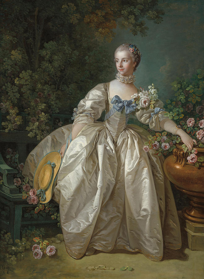 Madame Painting - Madame Bergeret 5 by Francois Boucher