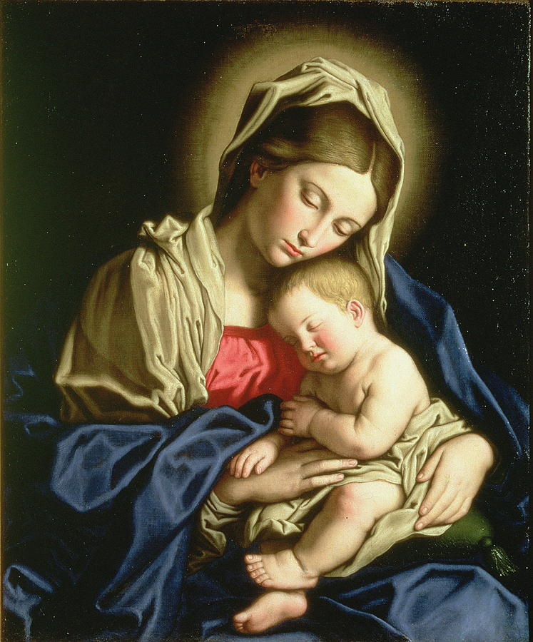 Painting Painting - Madonna And Child by Sassoferrato