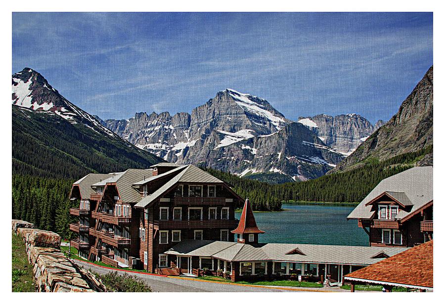 Many Photograph - Many Glacier Hotel by Margie Wildblood