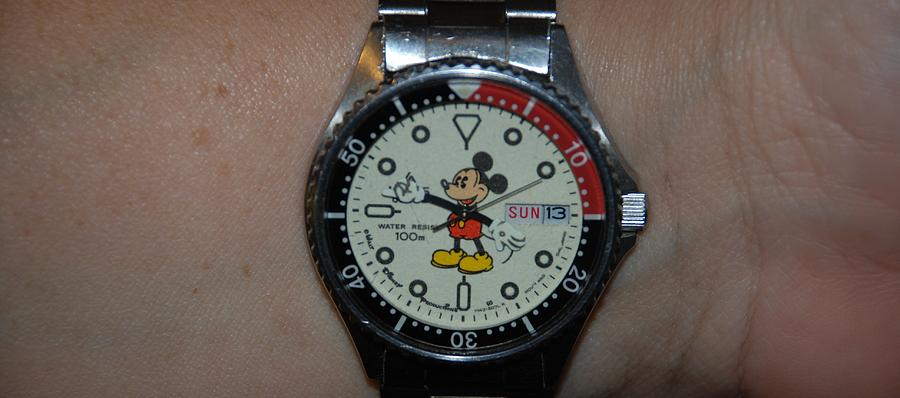 Mickey Mouse Photograph - Mickey Mouse Watch by Rob Hans