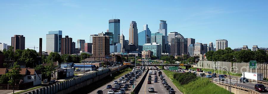 Minneapolis Skyline Panorama Photograph by Bill Cobb