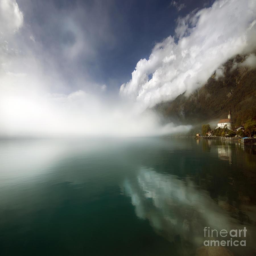 Alps Photograph - Misty Morning by Angel Ciesniarska