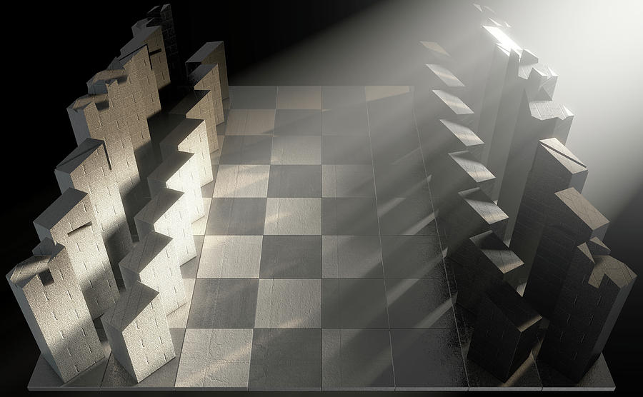 Chess Digital Art - Modern Chess Set  by Allan Swart