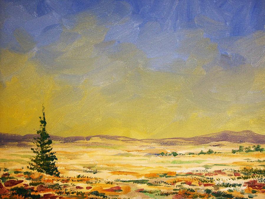 Landscape Painting - Montana Landscape by Kevin Heaney