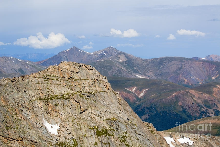 Mountain Scenery From Mount Evans Summit Photograph
