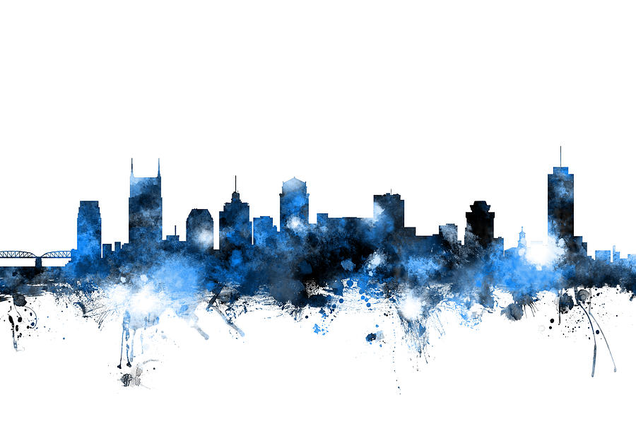 Nashville Tennessee Skyline Digital Art By Michael Tompsett