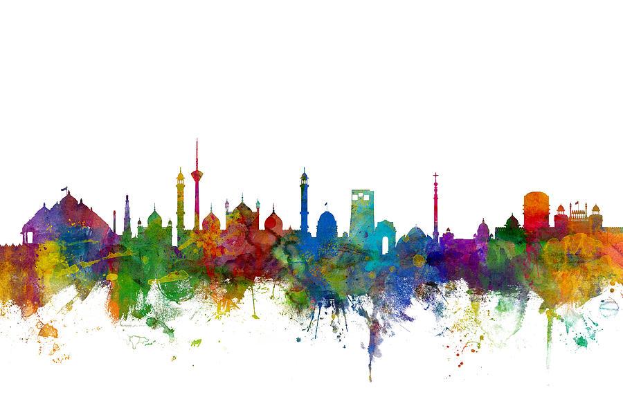 New Delhi India Skyline Digital Art By Michael Tompsett