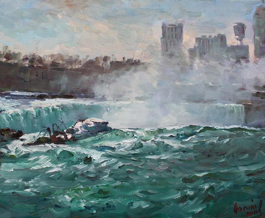 Niagara Falls Landscape Painting - Niagara Falls by Ylli Haruni