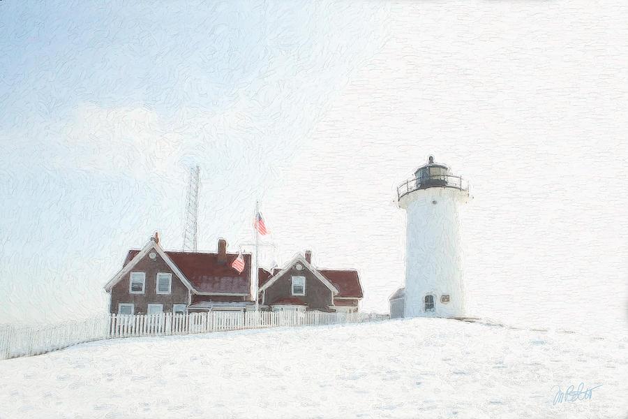 Light House Photograph - Nobska Light House by Michael Petrizzo