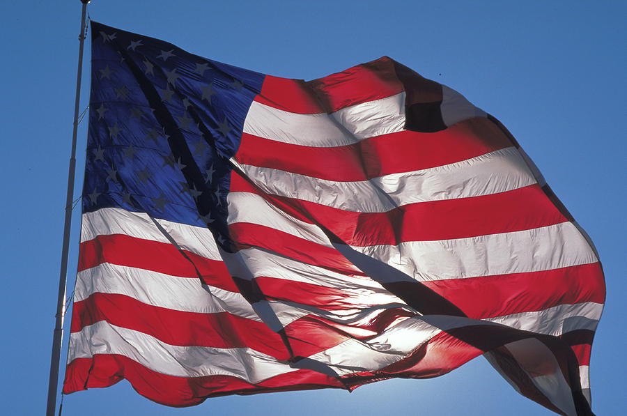 American Photograph - Old Glory by Carl Purcell