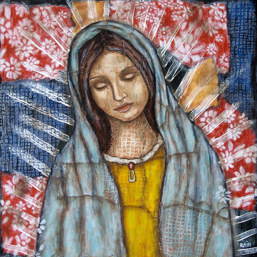 Our Lady Of Guadalupe Painting Painting - Our Lady Of Guadalupe by Rain Ririn