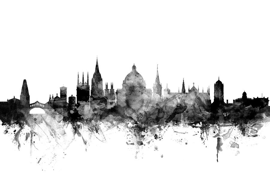 Oxford England Skyline Digital Art By Michael Tompsett