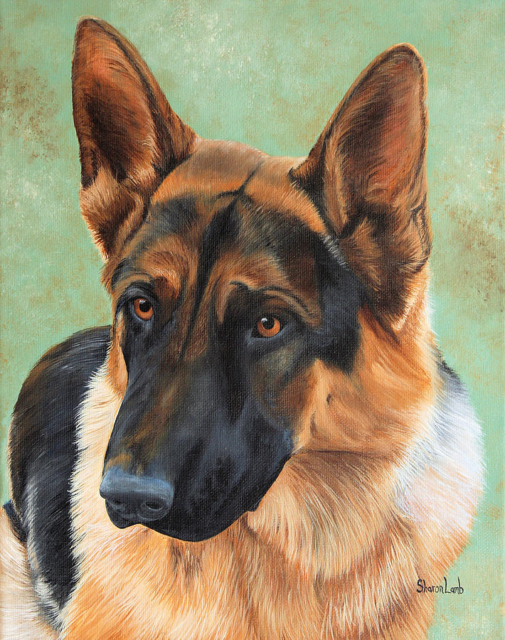 pet portrait painting commission dogs cats horses painting