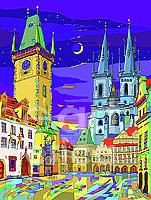 Prague Old Town Square Mixed Media by Yuriy Shevchuk