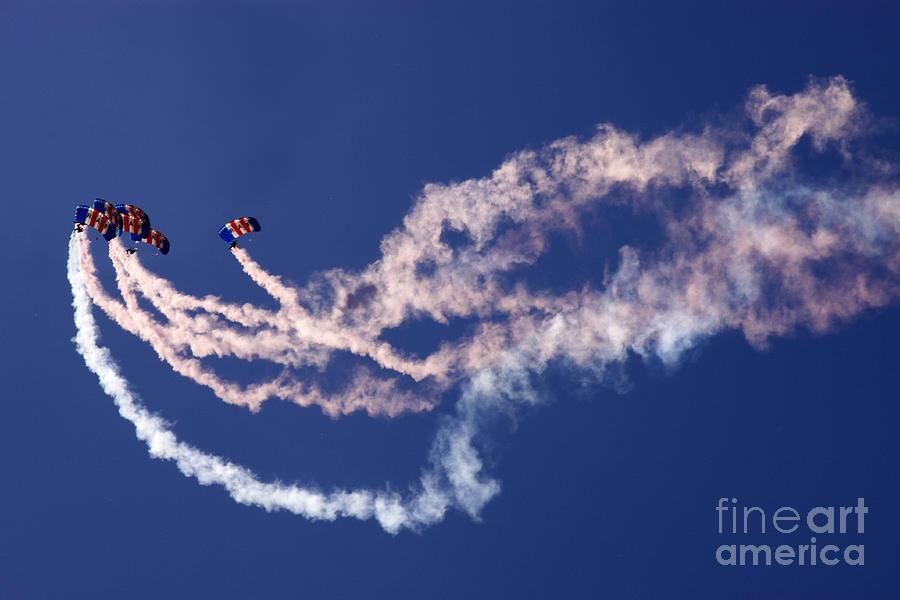 Falcons Photograph - Raf Falcons by Angel  Tarantella