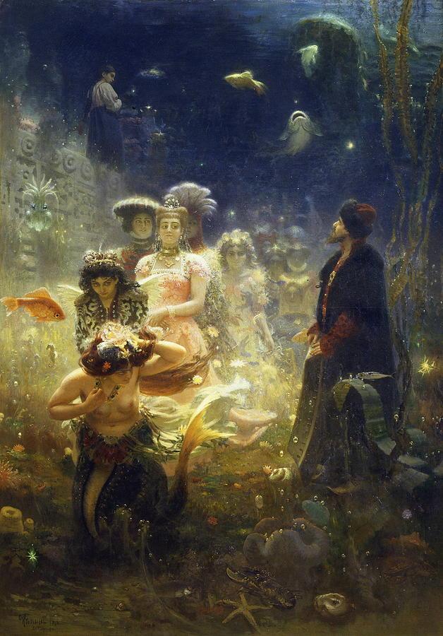 Ilya Repin Painting - Sadko by Ilya Repin