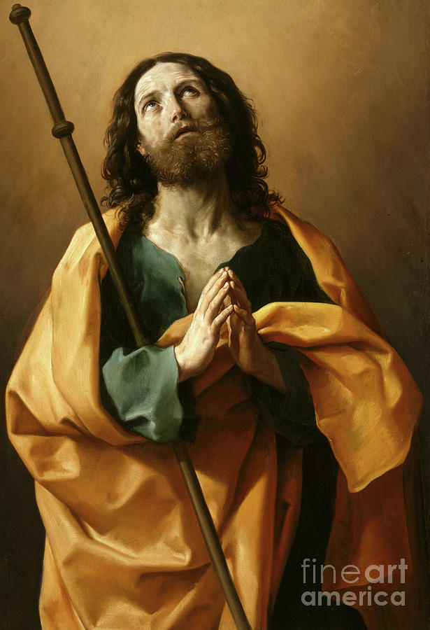 James Painting - Saint James The Greater, by Guido Reni