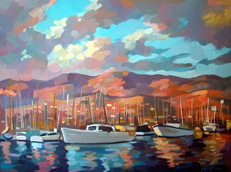 Boats Painting - Santa Barbara by Filip Mihail