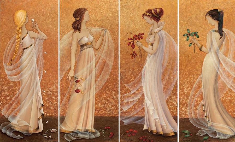 Season Painting - 4 Seasons by Sobobak