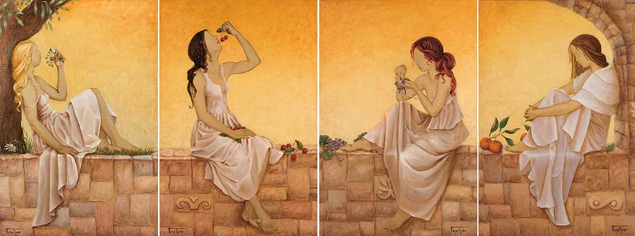 Season Painting - 4 Seasons II by Barbara Gerodimou