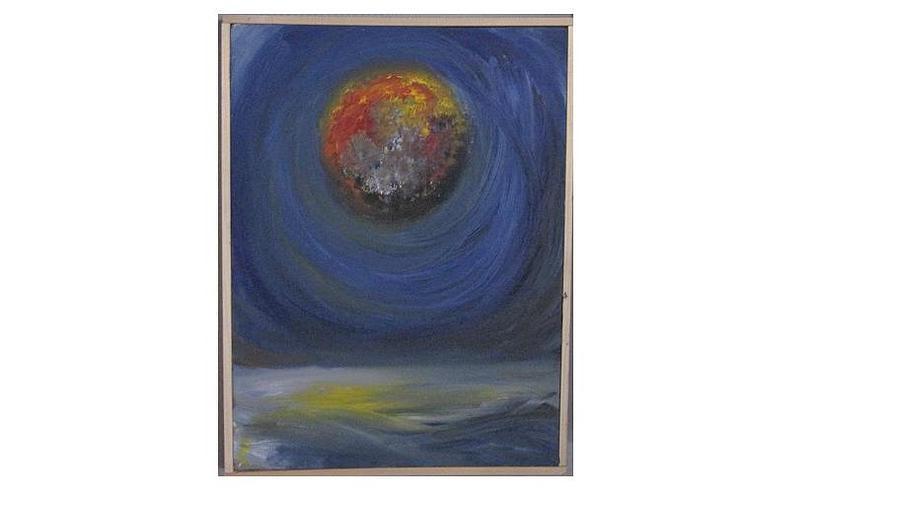 Moon Painting - 4 Seasons Spring by Dirk Ghys