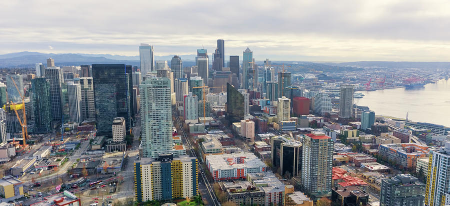 Seattle skyline  by Cathy Anderson