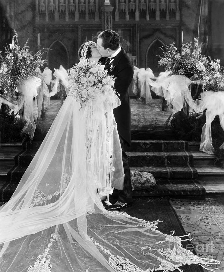 Wedding Gown Photograph - Silent Film Still: Wedding by Granger