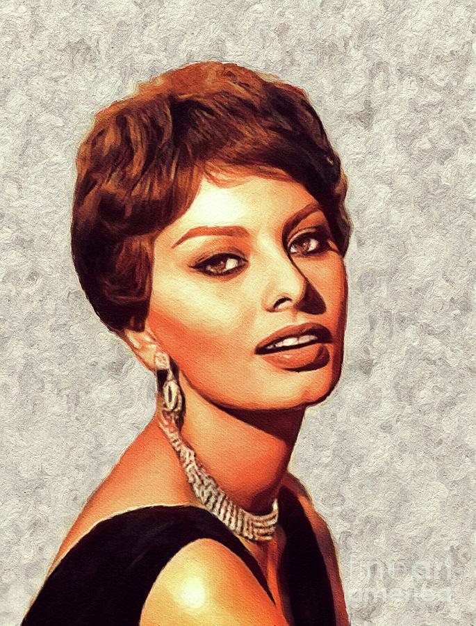 Sophia Painting - Sophia Loren, Vintage Movie Star by John Springfield