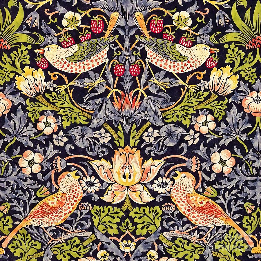 William Morris Painting - Strawberry Thief by William Morris