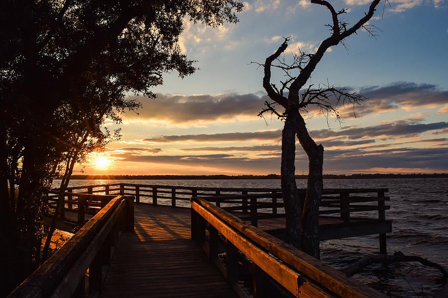 Sunset On The Cape Fear River by Willard Killough III