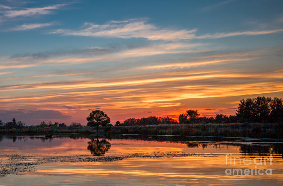 Reflections Photograph - Sunset Reflections by Robert Bales