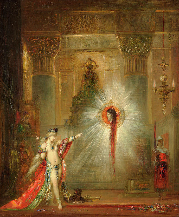 Salome Painting - The Apparition by Gustave Moreau