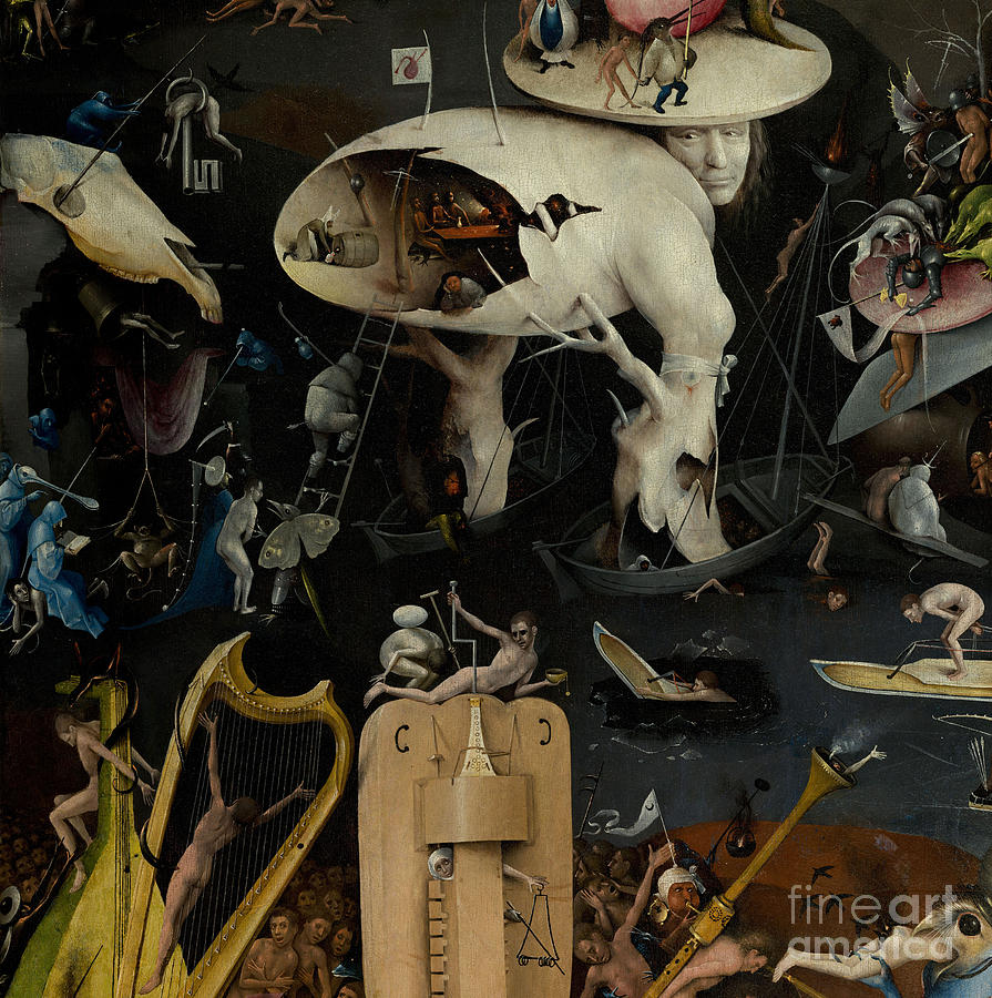Bosch Painting - The Garden Of Earthly Delights by Hieronymus Bosch