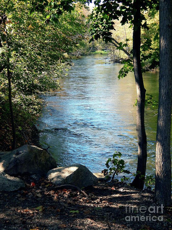 Scene On Huron River Ohio