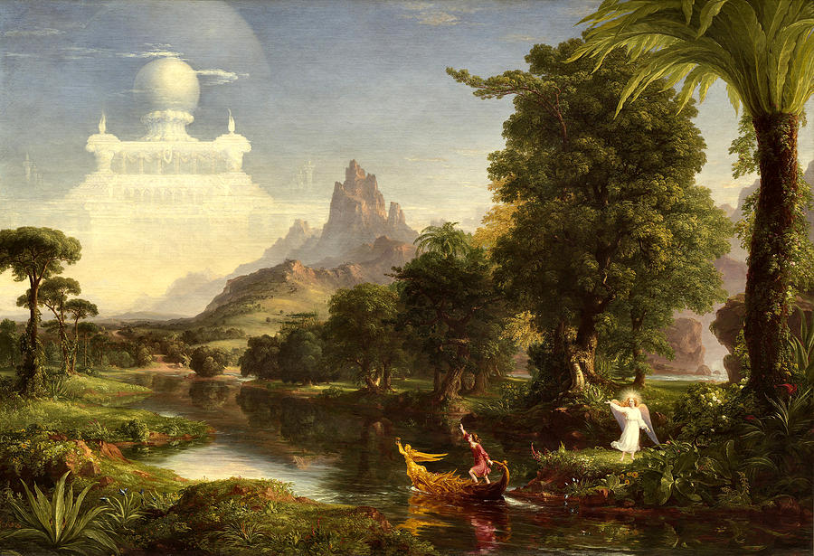 Thomas Cole Painting - The Voyage Of Life, Youth 7 by Thomas Cole