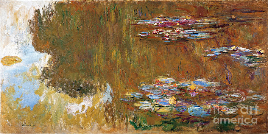 Claude Painting - The Water Lily Pond by Claude Monet